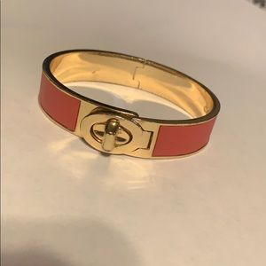 Coach Jewelry - Coach bangle coral and gold